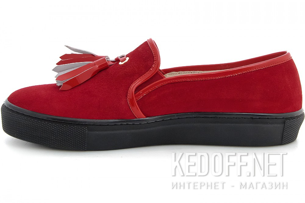 Moccasins Las Espadrillas Red Slipons 03534-473 (red) купить Украина