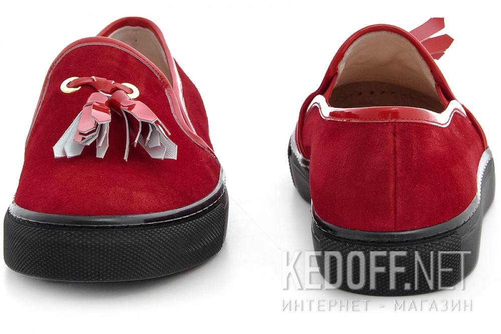 Moccasins Las Espadrillas Red Slipons 03534-473 (red) купить Киев