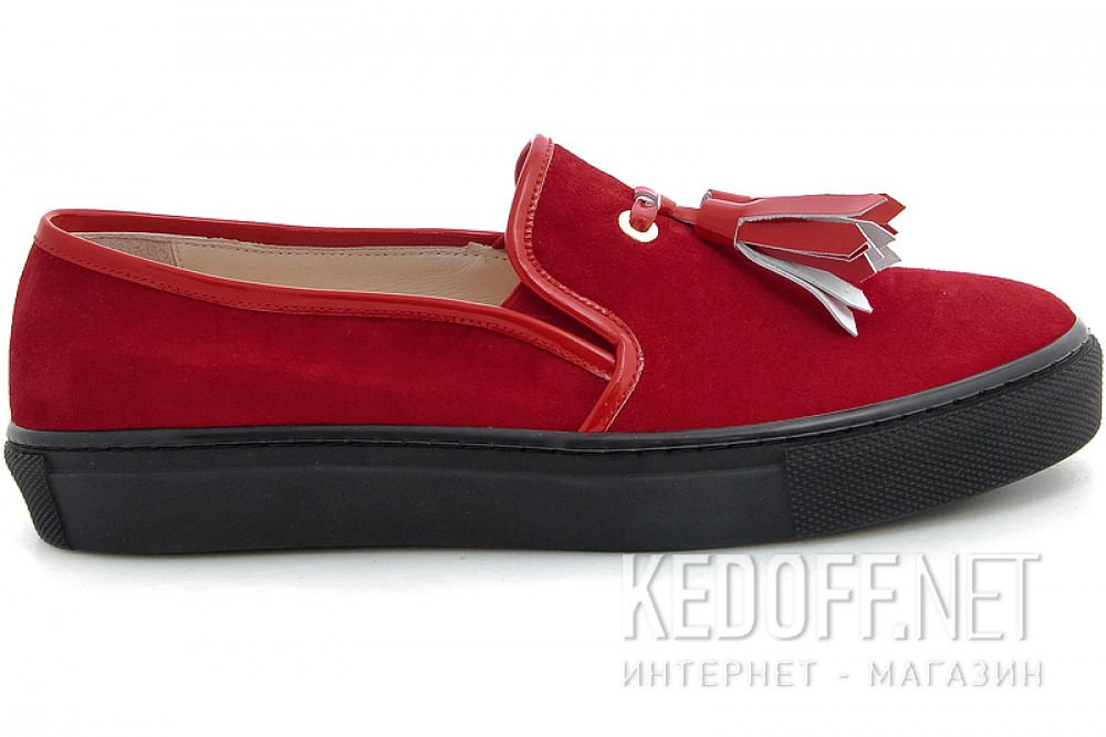 Оригинальные Moccasins Las Espadrillas Red Slipons 03534-473 (red)