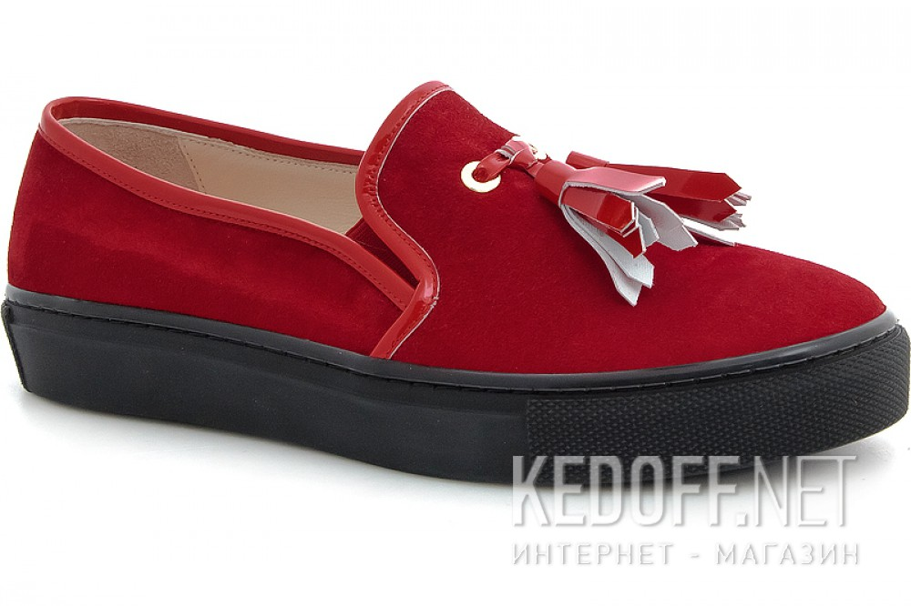 Moccasins Las Espadrillas Red Slipons 03534-473 (red)
