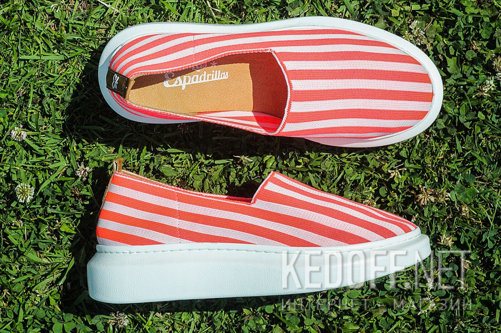 Літнє взуття Las Espadrillas Freerun 037-2015-78 Рожева смужка