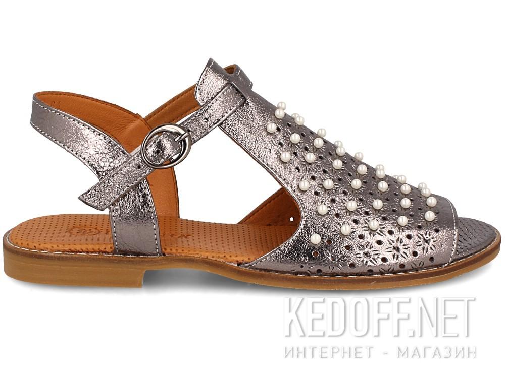 Женские сандалии Las Espadrillas 0378-61-64   (серый) купить Украина