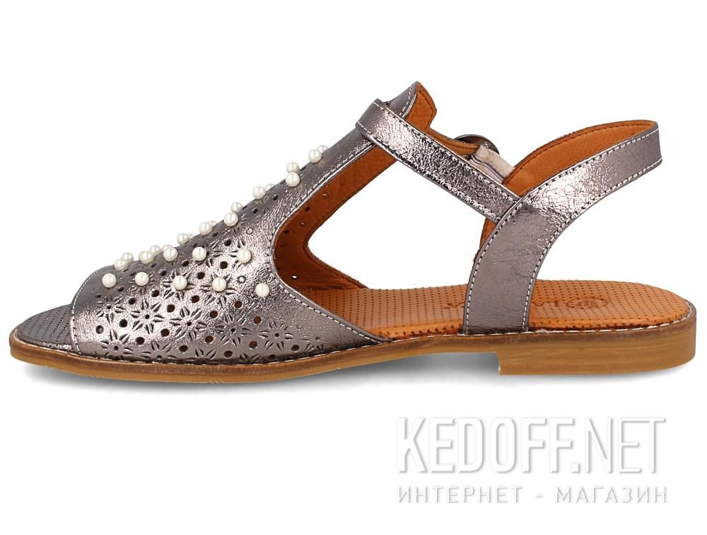Женские сандалии Las Espadrillas 0378-61-64   (серый) купить Киев