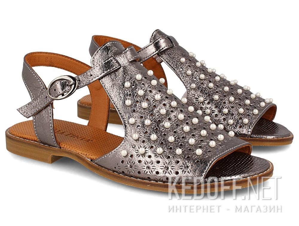Оригинальные Женские сандалии Las Espadrillas 0378-61-64   (серый)