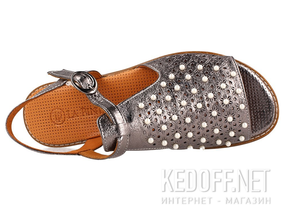 Женские сандалии Las Espadrillas 0378-61-64   (серый)