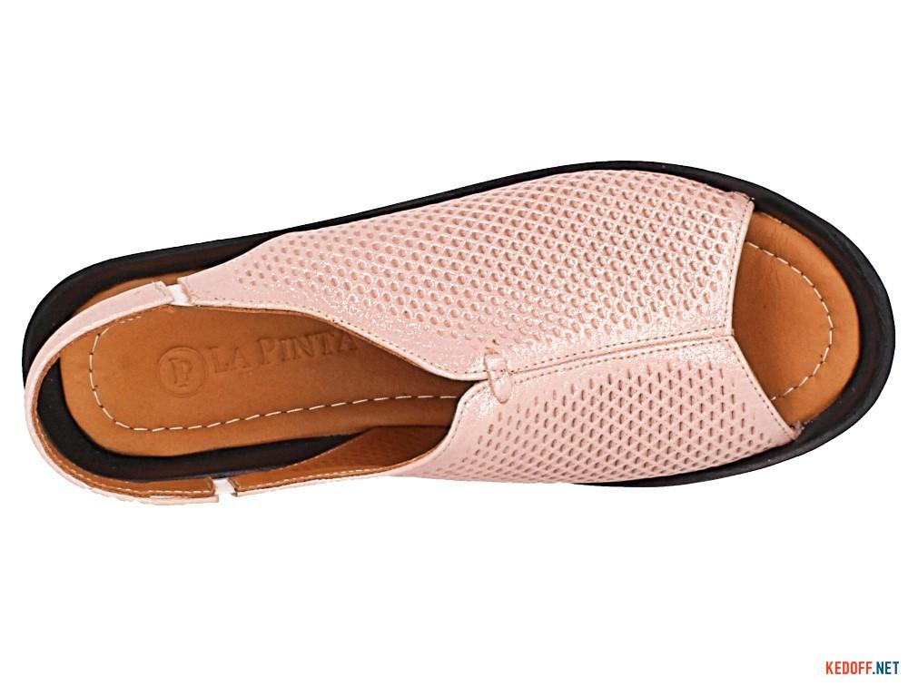 Босоножки Las Espadrillas 0436-523-27-1917   (розовый/чёрный)