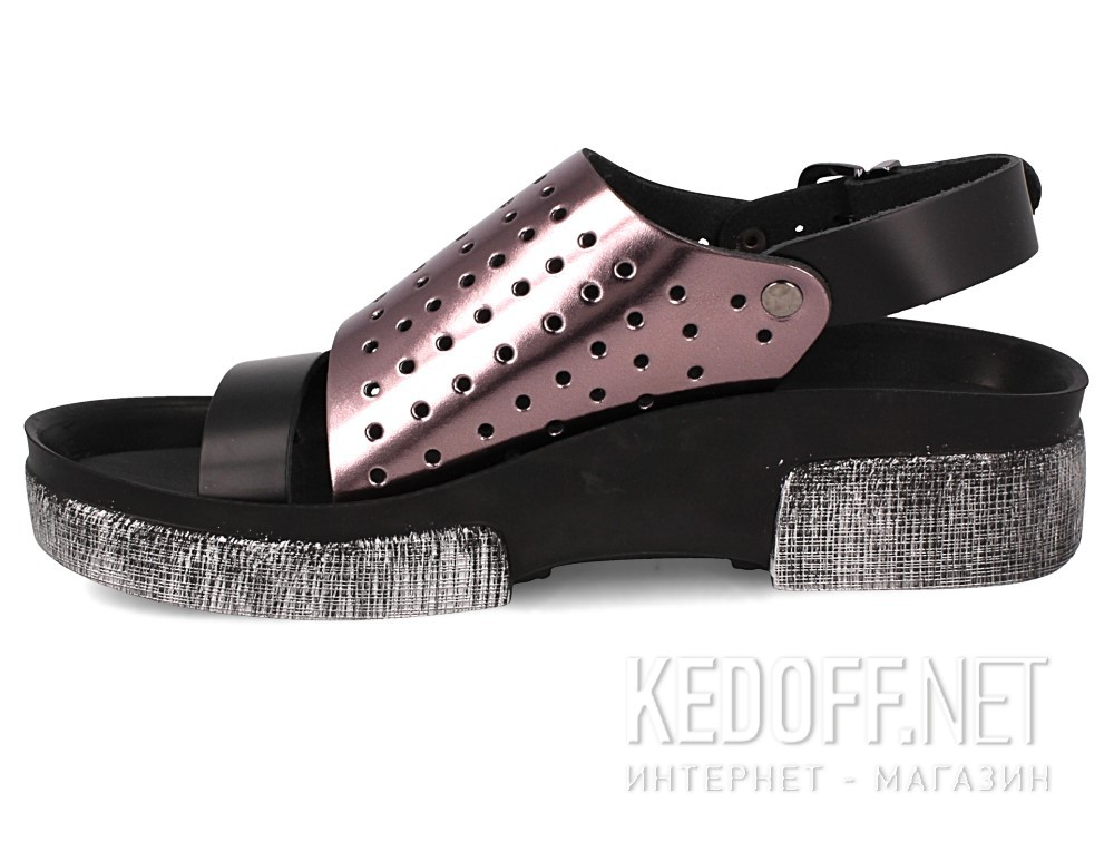 Босоножки Las Espadrillas 0449-2902-575 унисекс   (серебряный/чёрный) купить Киев