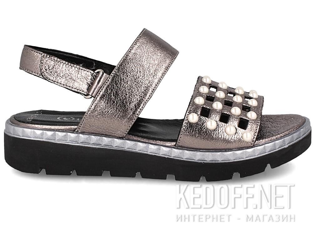 Женские сандалии Las Espadrillas 0482-276-234    (серебряный/серый) купить Украина