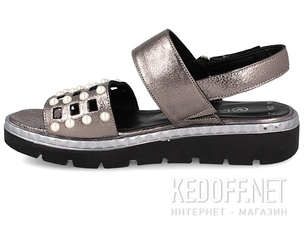 Женские сандалии Las Espadrillas 0482-276-234    (серебряный/серый) купить Киев