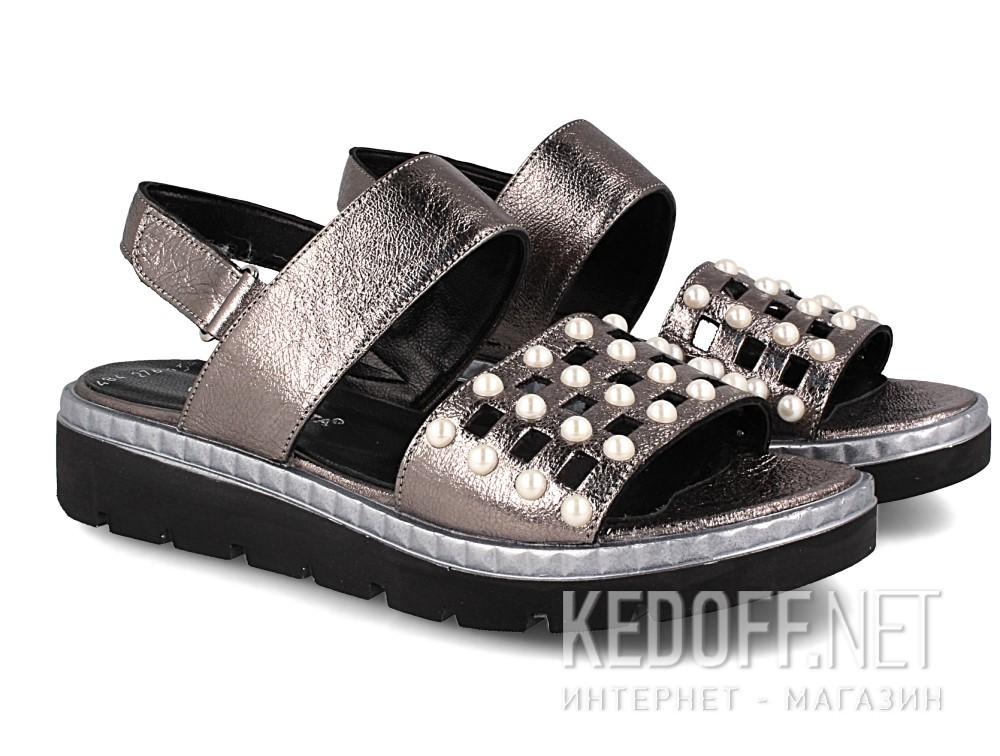 Оригинальные Женские сандалии Las Espadrillas 0482-276-234    (серебряный/серый)