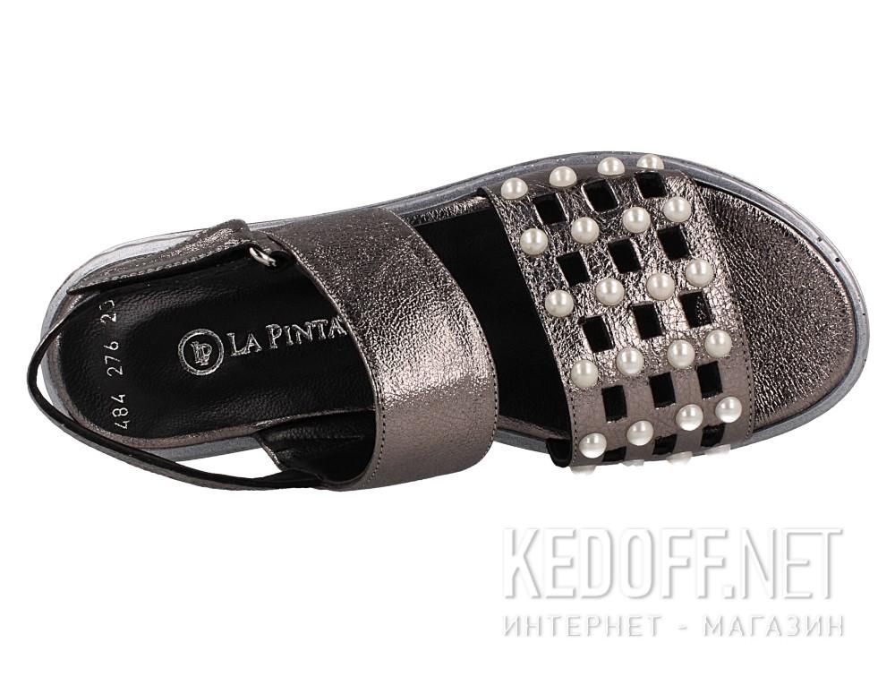 Женские сандалии Las Espadrillas 0482-276-234    (серебряный/серый) описание