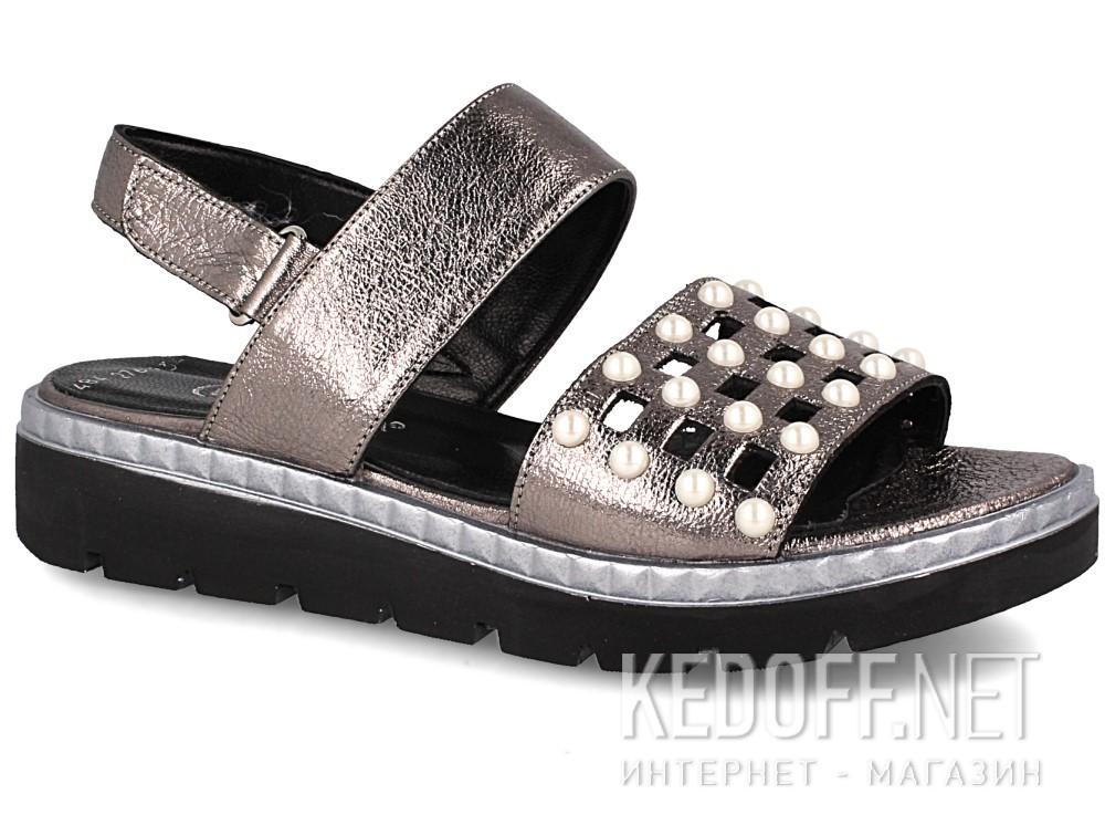 Купить Женские сандалии Las Espadrillas 0482-276-234    (серебряный/серый)