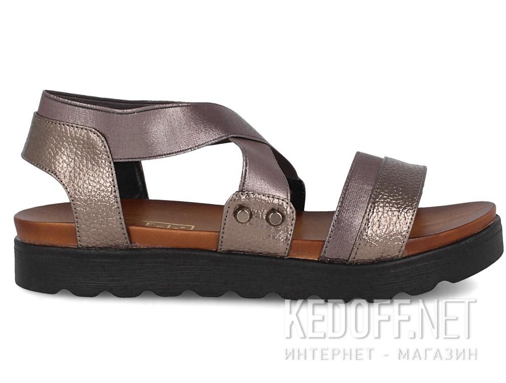 Женские сандалии Las Espadrillas Miss Folx 114-14   (серебряный) купить Украина