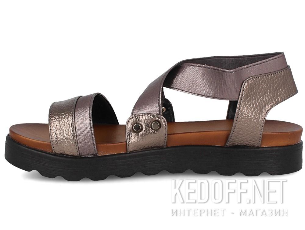 Женские сандалии Las Espadrillas Miss Folx 114-14   (серебряный) купить Киев
