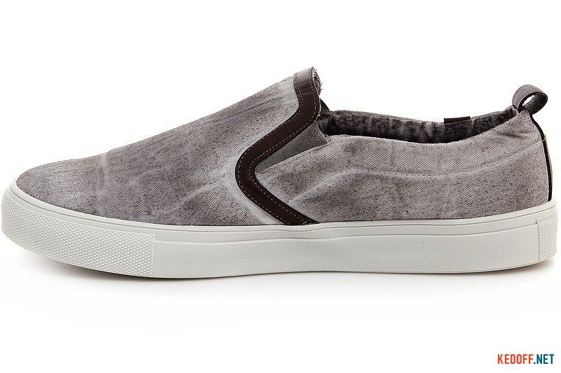 Men slipons Las Espadrillas 14003-37 Grey boiled jeans