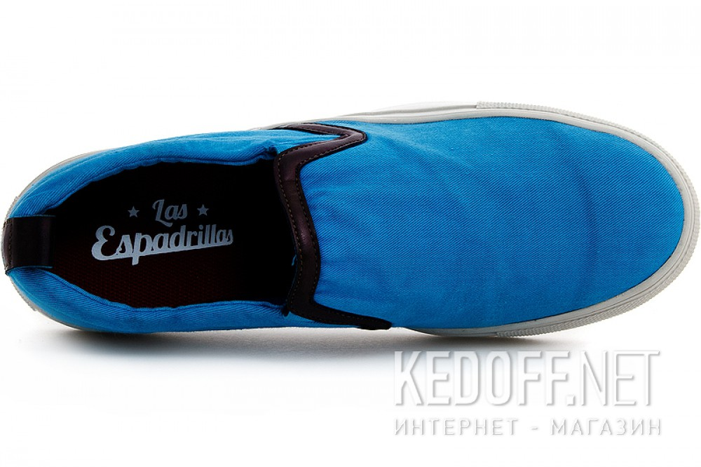 Men slipons Las Espadrillas 14003-40 Blue
