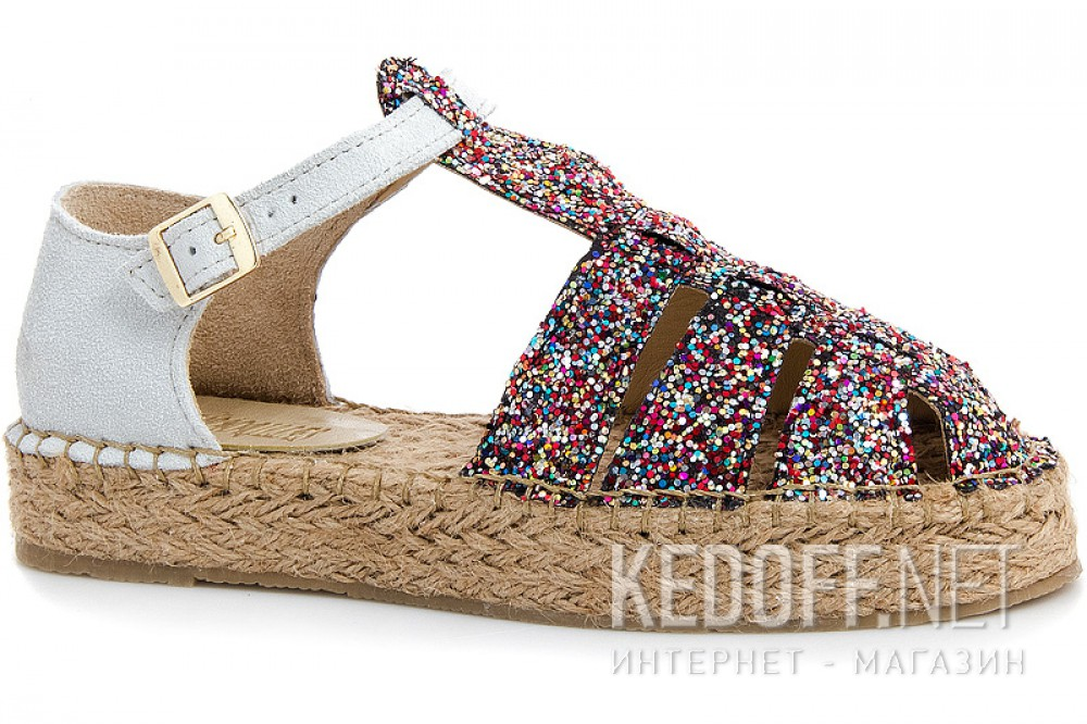 Women's sandals with jute sole espadrilles Las Espadrillas 1443-48
