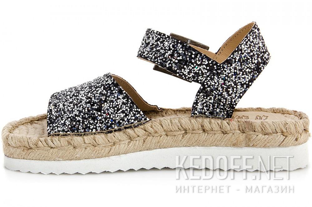 Женские сандалии Las Espadrillas 1445-27   (чёрный) купить Украина