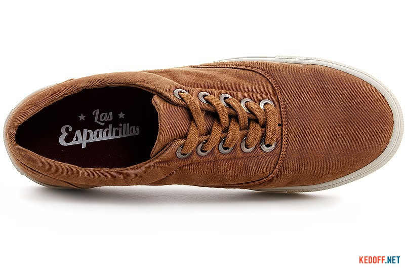 Men's shoes Las Espadrillas 15005-51 Sand jeans