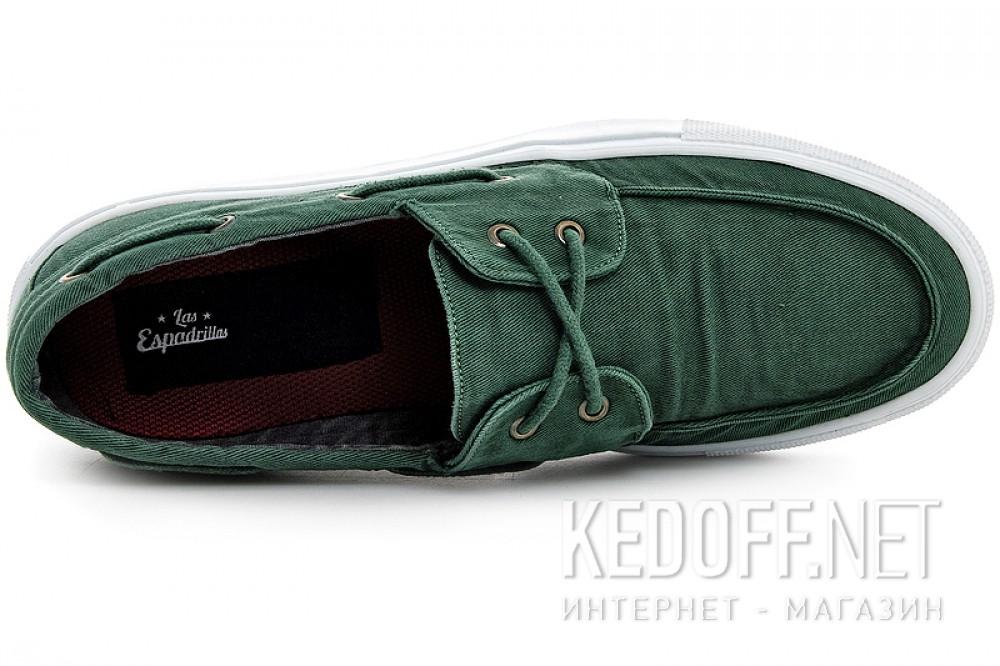 Мужские кеды Las Espadrillas 15006-22 Зеленый джинс