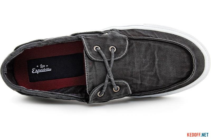 Мужские кеды Las Espadrillas 15006-27 Серый вареный джинс