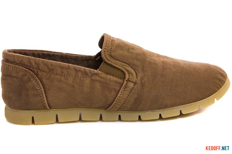 Men's moccasins Las Espadrillas Brown jeans 15070-45