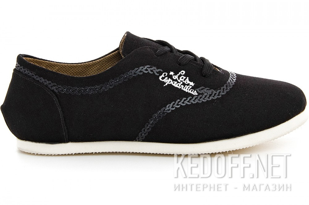 Women's sneakers Las Espadrillas black soul 1550-27