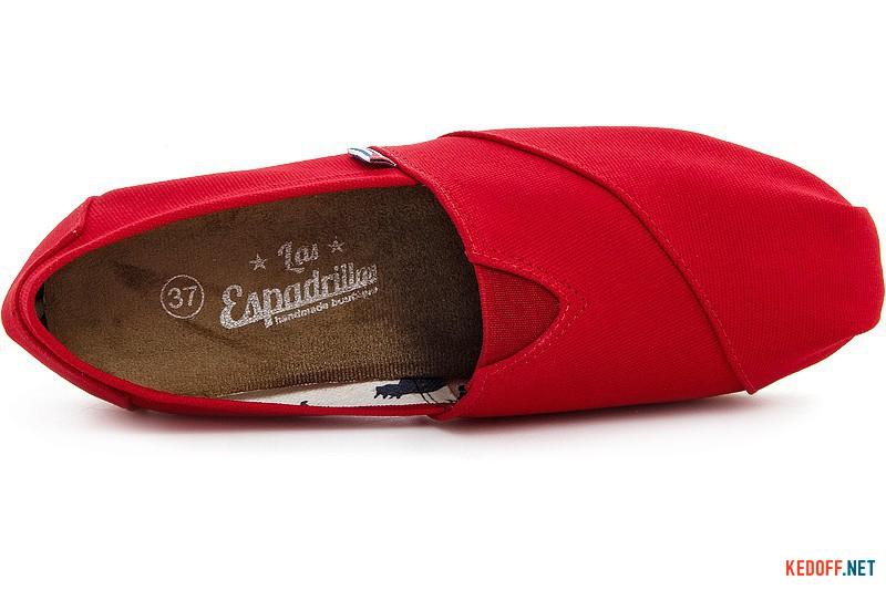 Эспадрильи Las Espadrillas 2013-2 Красный хлопок