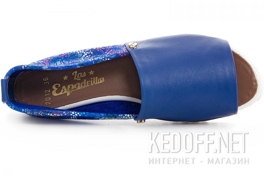 Жіночі шкіряні балетки Las Espadrillas 2087012-40 з відкритим носком