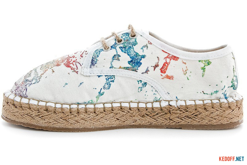 White lace espadrilles Las Espadrillas 2091-13