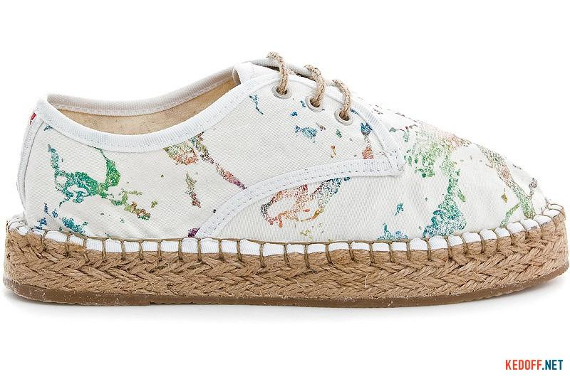 Белые эспадрильи на шнурках Las Espadrillas 2091-13