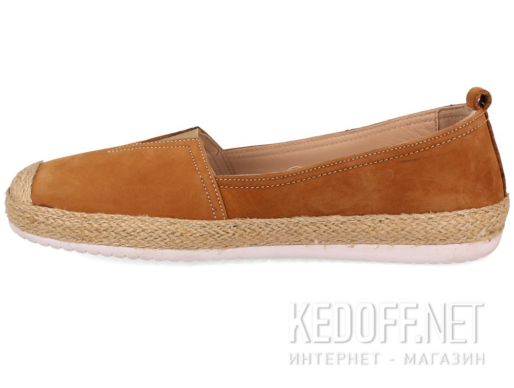Кожаные мокасины Las Espadrillas 210119-45   (светло-коричневый) купить Киев