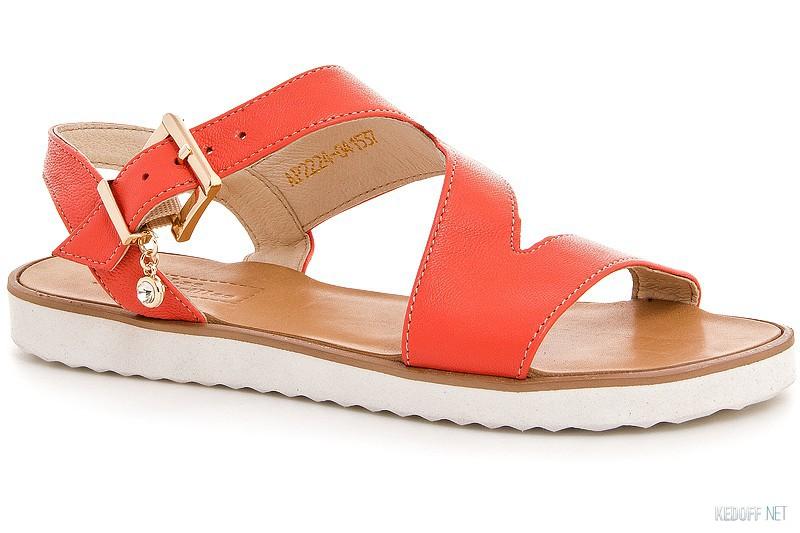 Womens sandals Las Espadrillas 2224-47Sd Fuxia