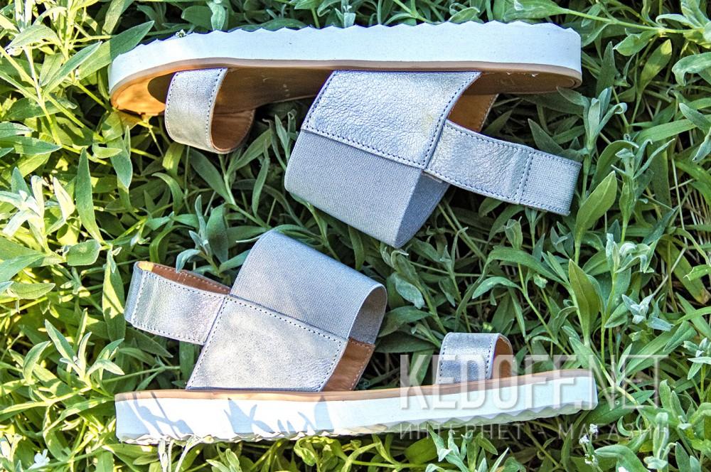 Жіночі сандалі Las Espadrillas 2240-14 Сріблясті