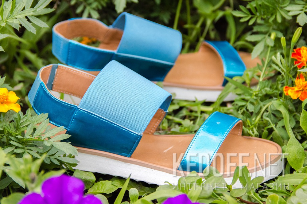 Women's sandals Las Espadrillas 2241-42 Blue