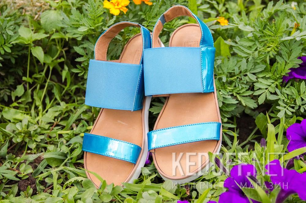 Жіночі сандалі Las Espadrillas 2241-42 Блакитні