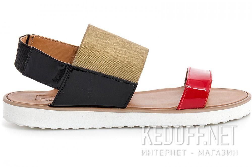 Жіночі сандалі Las Espadrillas 2245-79 Червоний | Чорний | Золотистий