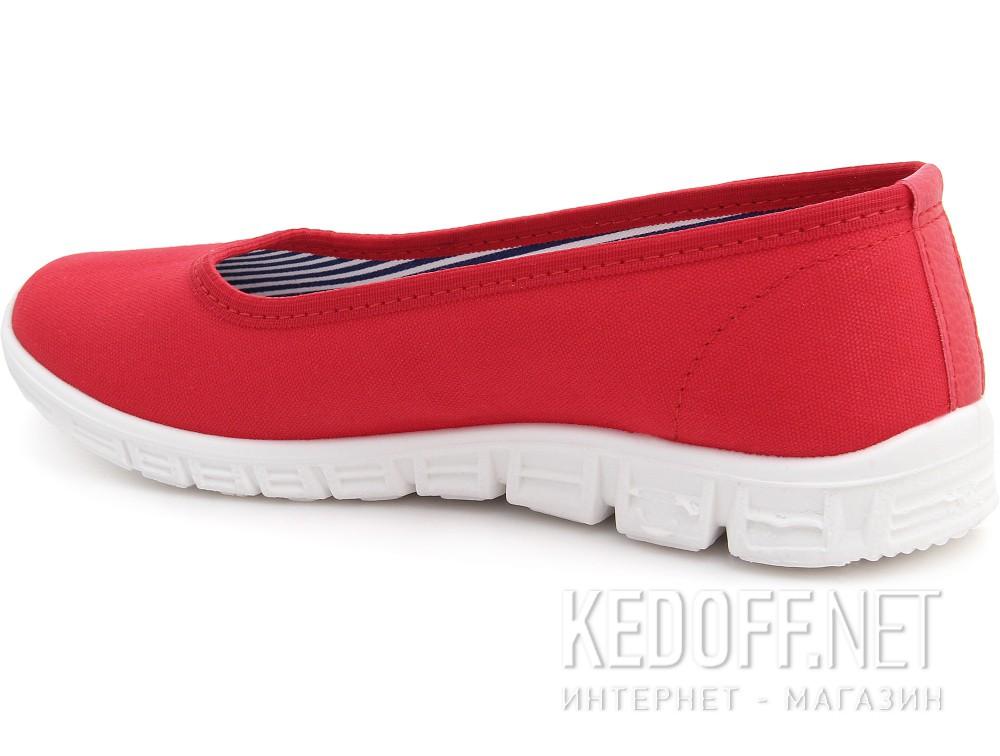 Женские балетки Las Espadrillas 22636-47SP   (красный) купить Киев