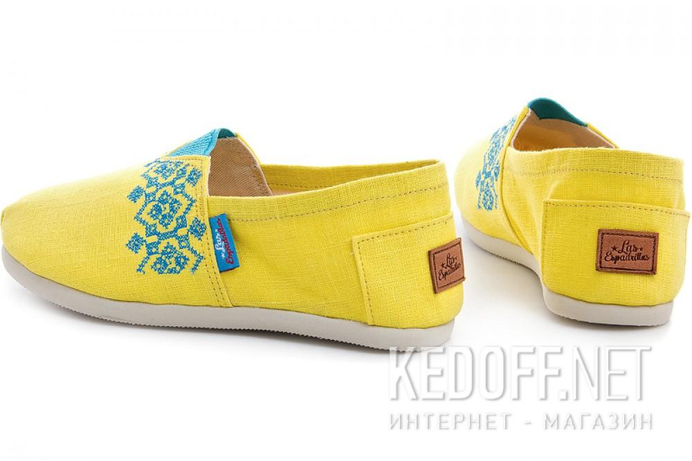 Эспадрильи Las Espadrillas 3015-61 унисекс   (жёлтый) купить Украина