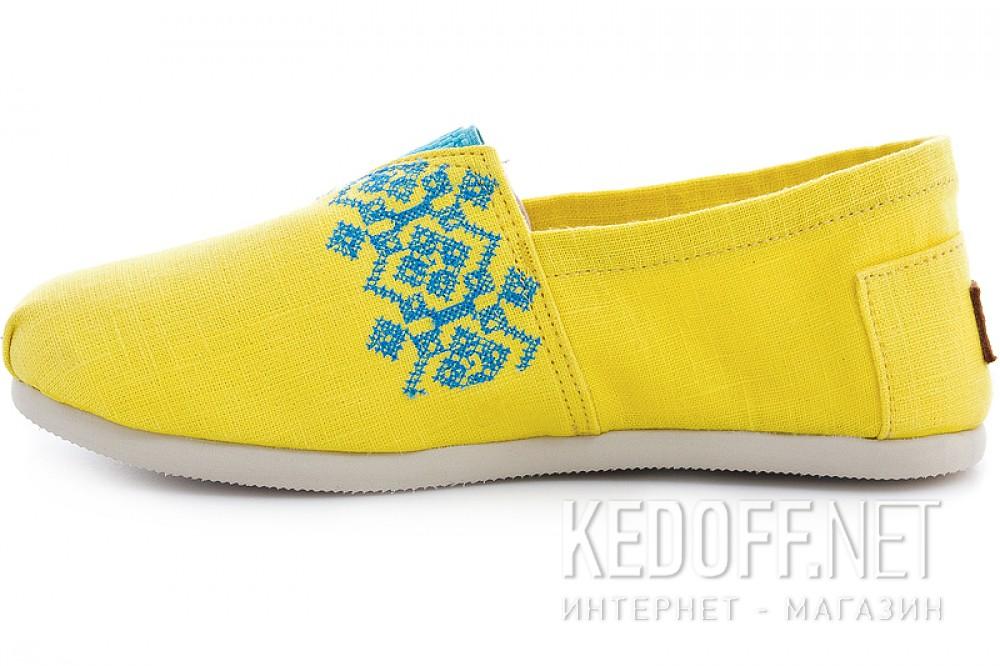 Эспадрильи Las Espadrillas 3015-61 унисекс   (жёлтый) купить Киев