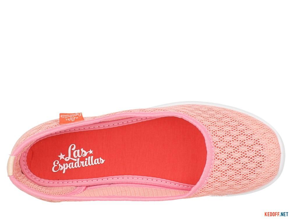 Балетки Las Espadrillas 32636-34 (розовая сеточка) описание