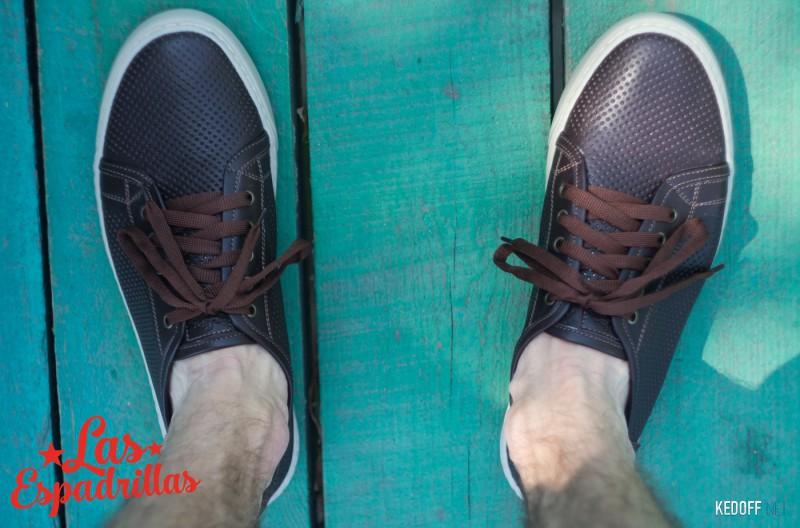 Чоловічі снікерси Las Espadrillas Leather Low 4077-45