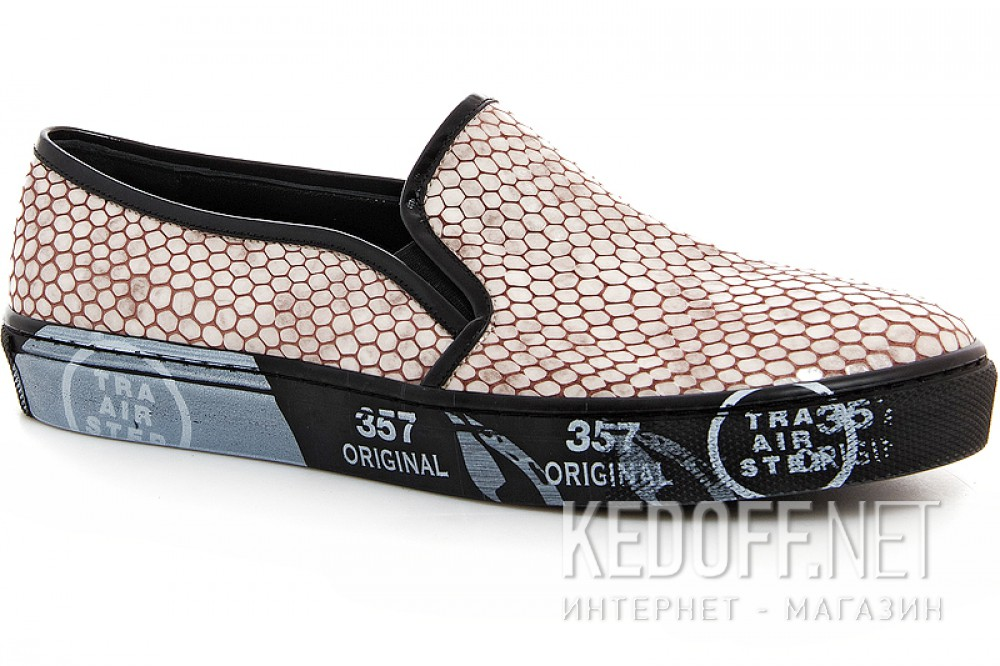 Leather slip ons Las Espadrillas Snake 4510505-18Sl