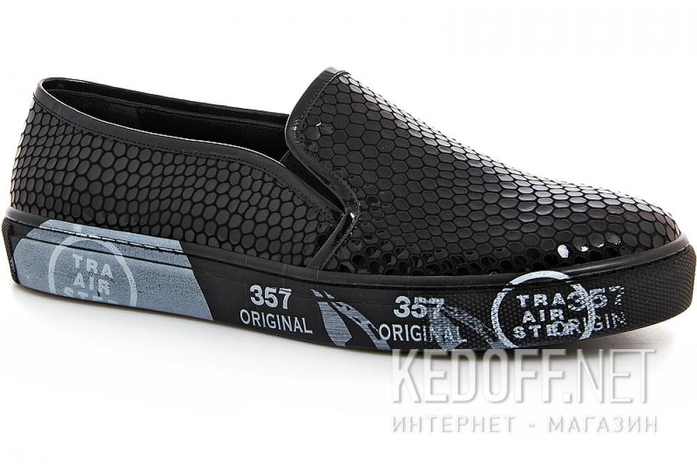 Black sneakers Las Espadrillas 4510505-27Sl Leather
