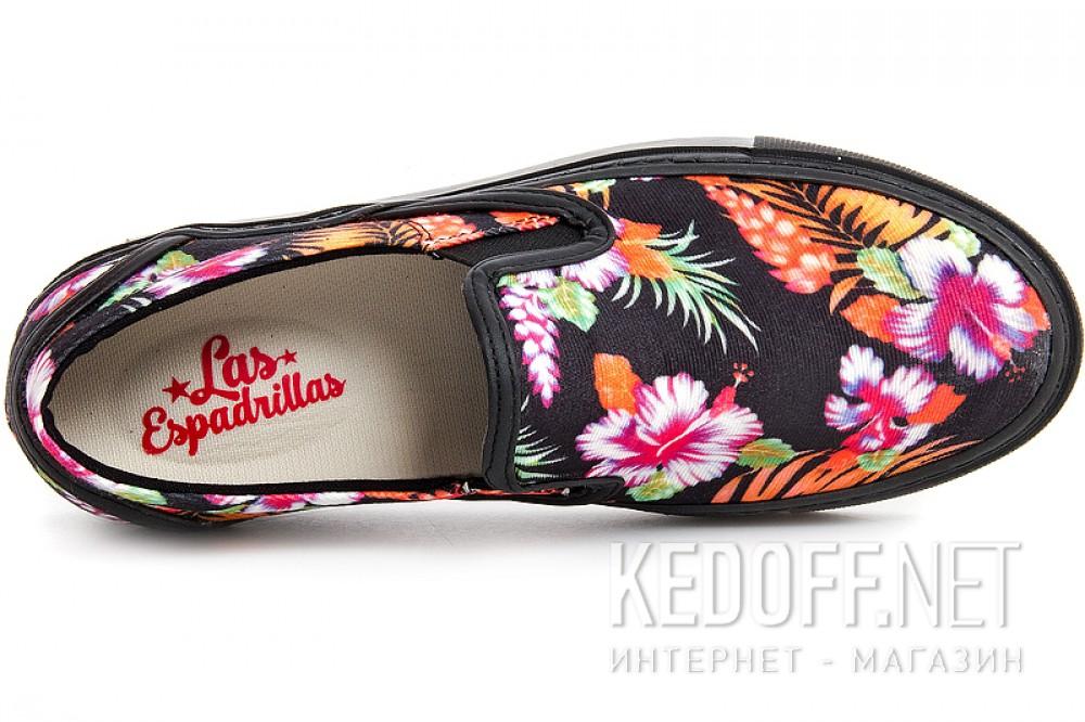 Женские слипоны Las Espadrillas Black kenzoo 4545-27Sl