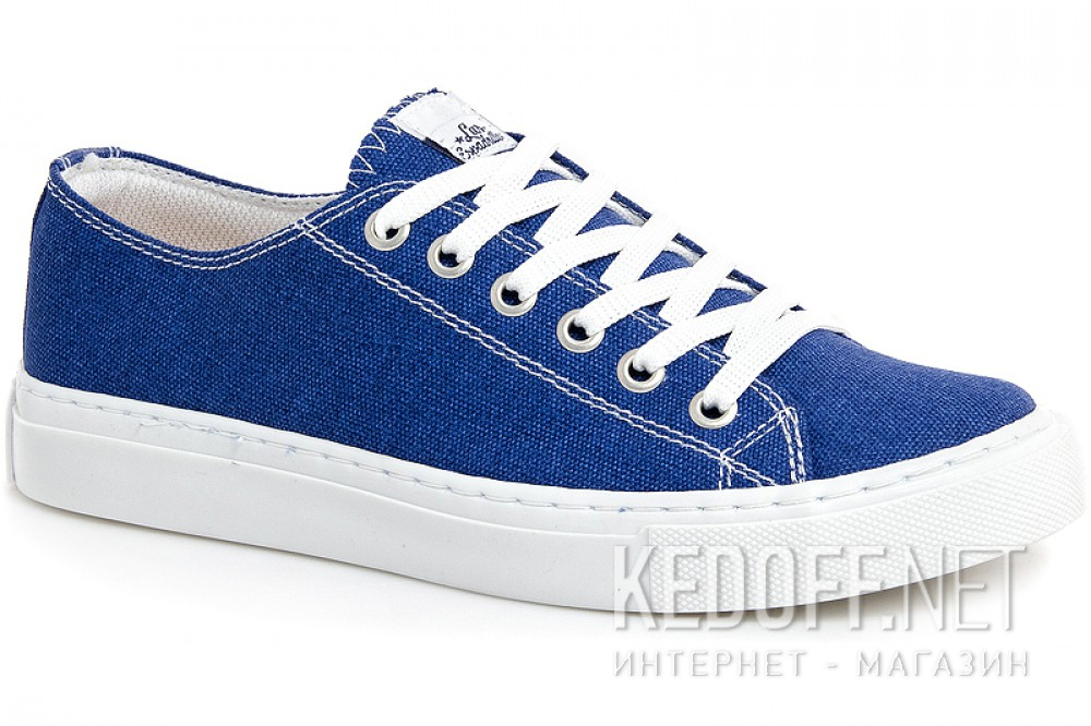 Sneakers Las Espadrillas 4799-130127 Blue Cotton