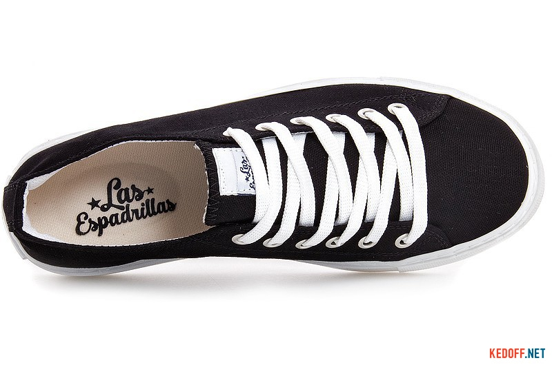 Sneakers Las Espadrillas 4799-2750 Black cotton
