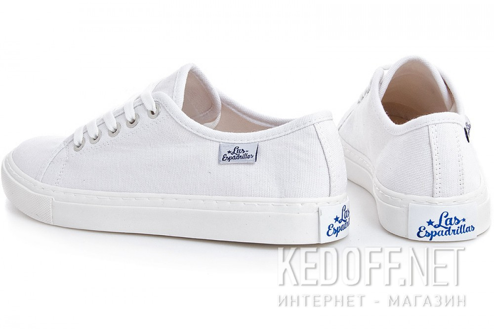 Кеди Las Espadrillas Classic White 4799-7652 Білі