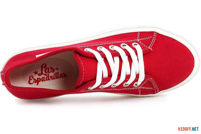 Кеди Las Espadrillas Classic Red 4799-9696 Червона бавовна