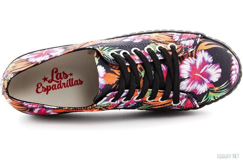 Canvas platform sneakers Las Espadrillas black kenzoo 501-27